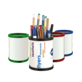 Image of Recycled Round Full Colour Pen Pot