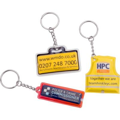 Image of Pressed PVC Torch Key Ring