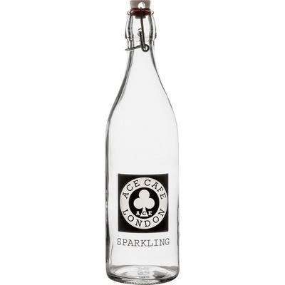 Image of 1ltr Round White Cap Swing Top Bottle