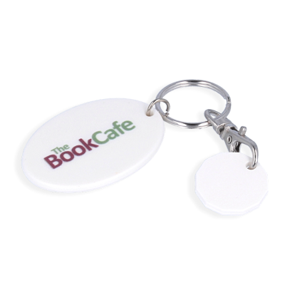 Image of Trolley Mate Keyring Oval - 12 sided