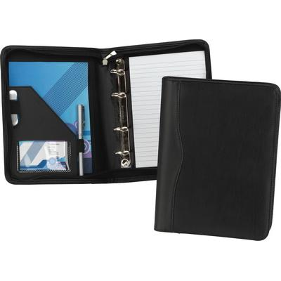 Image of Houghton PU A5 Zipped Ring Binder Folder