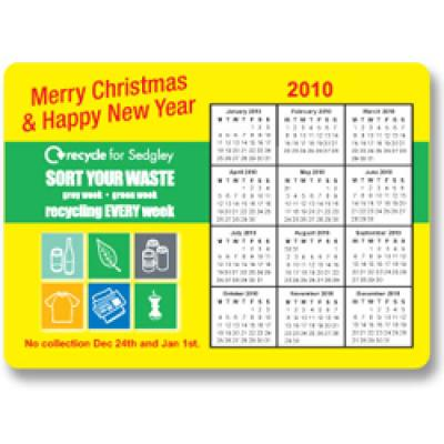 Image of Calendar Magnet - 148mm x 105mm