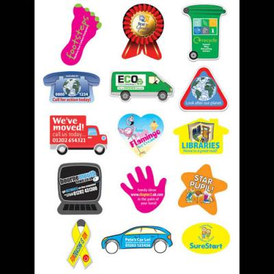 Image of Rectangular Paper Stickers: 25 x 76mm 21 per sheet