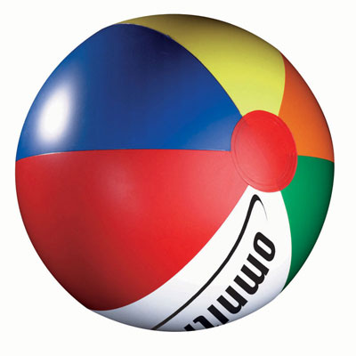 Image of Rainbow solid beach ball